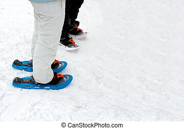 People Wearing Snow Footwear - People on the snow wearing...