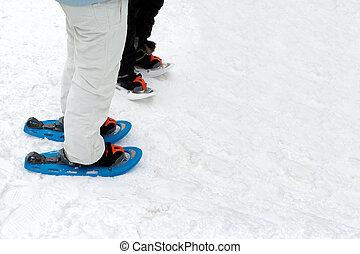 People Wearing Snow Footwear - People on the snow wearing...