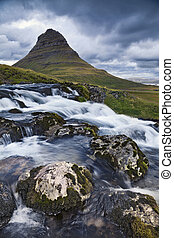 Iceland Landscape - Image of Kirkjufell mountain on...
