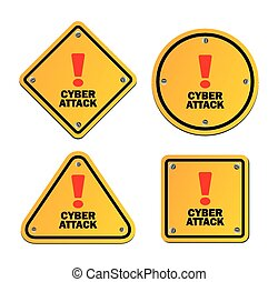 cyber attack - warning signs - suitable for warning signs