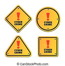 cyber crime - warning signs - suitable for warning signs