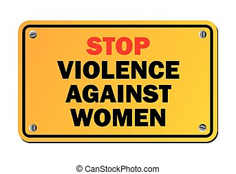 stop violence against women - prote - suitable for warning...