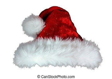 Luxury red and white fur fun sexy christmas santa hat with pom p
