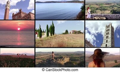 Wonderful tuscany collage - Tuscany: art, history, nature.