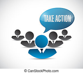 take action team illustration design