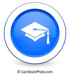 education icon graduation sign