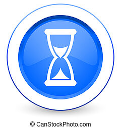 time icon hourglass sign