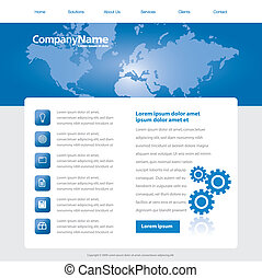 website design template - A website design template in...