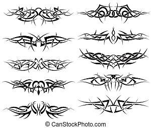 tatouages, ensemble