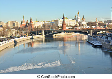 The Moscow Kremlin is a UNESCO world cultural heritage -...