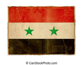 grunge flag of Syria