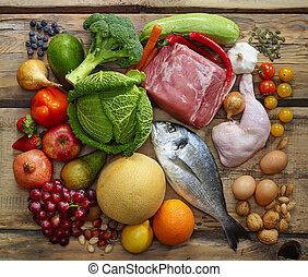 Paleo, dieta, produtos,