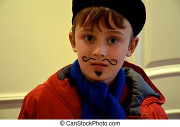 Boy as Picasso - Older boy dressed up as Picasso