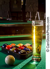 Local Tavern Bar and Grill Food - Colorful billiard balls in...
