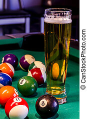 Local Tavern Bar and Grill Food - Colorful billiard balls...