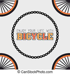 Bike design, vector illustration - Bike design over white...