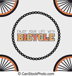 Bike design, vector illustration. - Bike design over white...