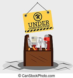 Construction design, vector illustration. - Construction...