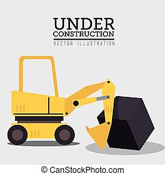 Construction design, vector illustration - Construction...