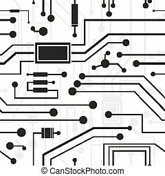 electronic circuit, background - electronic circuit,...