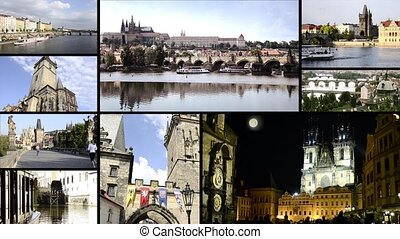 Prague cityscapes - Wonderful prague, collage