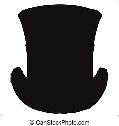 top hat - black silhouette of top hat