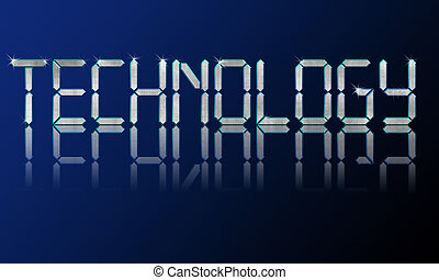 technology backgrounds - Big diamond shiny letters...