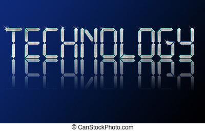 technology backgrounds - Big diamond shiny letters...