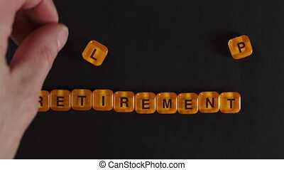 Letter Blocks Spell Retirement Plan