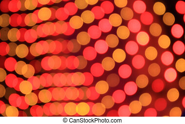 Festive red and orange background with boke effect