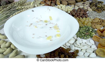 Muesli and their Composition - In the bowl of muesli...