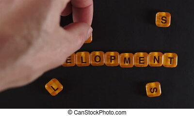 Letters Spell Skills Development - A close up shot of a man...