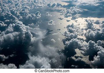Cloudscape over the Atlantic Ocean