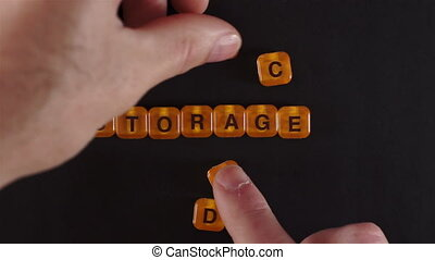 Blocks Spelling Cloud Storage - A close up shot of a man...