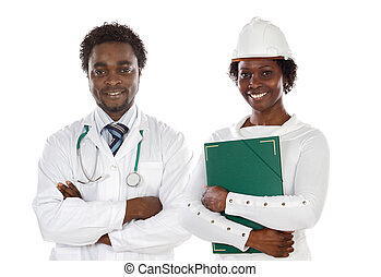 African americans doctor and engineer - Couple of african...