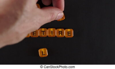 Letter Blocks Spelling Retire Early