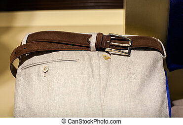 Men's slacks - Close up of men's slacks exposed in the...