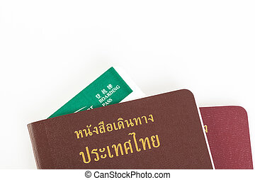 Passport Thailand for travel concept on white background