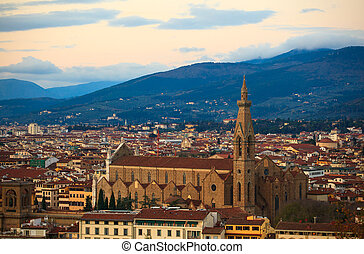 Basilica of St Lawrence in Florence - View of the Basilica...