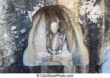 SAKONNAKORN THAILAND - NOVEMBER 28: The famaus monk names...