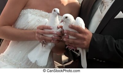 Couple With Doves