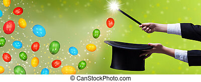 Easter magic magic - for copy space - Easter magic for copy...