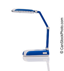 desk lamp - Blue desk lamp isolated on white background