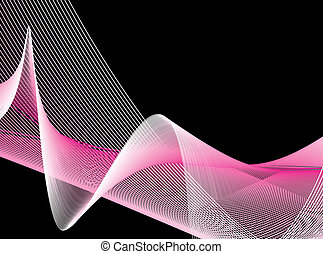 wave line background - white wave line with sample text...