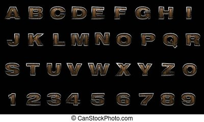 loop alpha matted metal alphabet