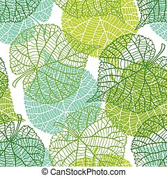 Seamless nature pattern with green leaves. - Seamless nature...