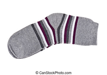 knitted socks - isolated object on white - knitted socks