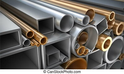 Set of different tubes - Set of different square tubing,...