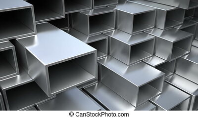 Steel rectangular tubes and pipes - Metallic, steel or...