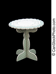 Cake Stand - cardboard Cake Stand isolated on black...